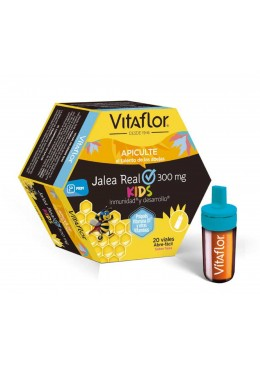 VITAFLOR JALEA REAL KIDS 20 VIALES 10 MIL 167815 Defensas - Resfriado
