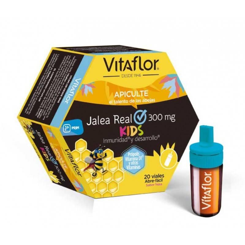 VITAFLOR JALEA REAL KIDS 20 VIALES 10 MIL 167815 Defensas - Resfriado