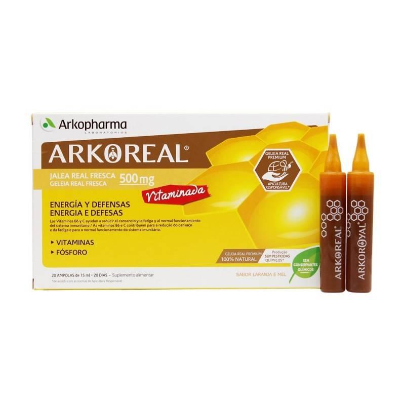 ARKOREAL JALEA REAL FRESCA VITAMINADA 500 20 AMPOLLAS 162750 Defensas - Resfriado