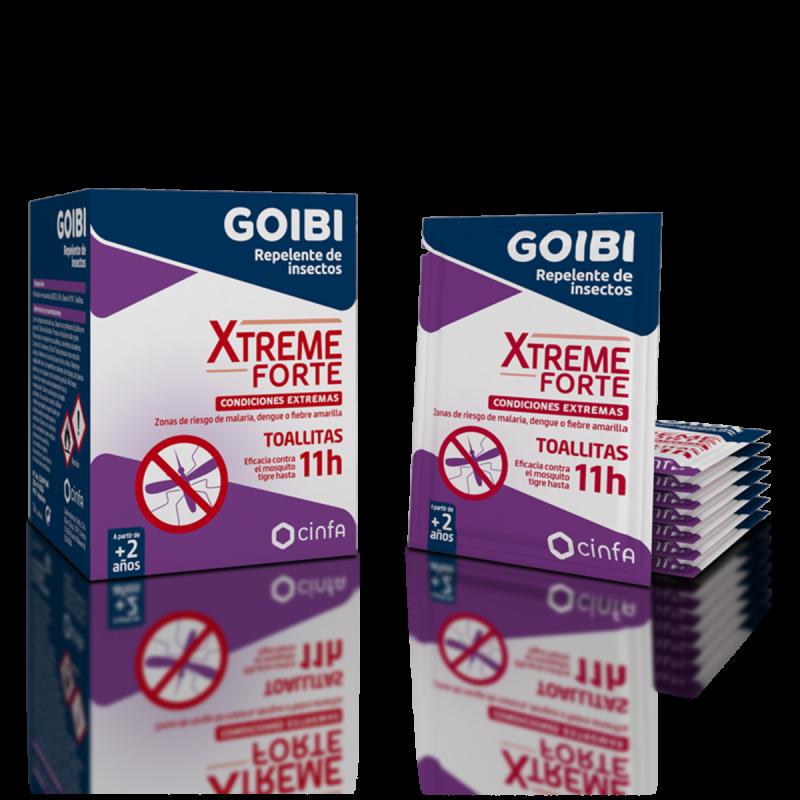GOIBI XTREME ANTIMOSQUITOS TOALLITAS REPELENTES 16 UNDS 310602 Repelentes - Picaduras