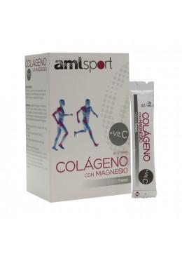 AMLSPORT COLAGENO+MAGNESIO+VIT C 20 STICKS FRESA 177488 COMPLEMENTOS NUTRICIONALES