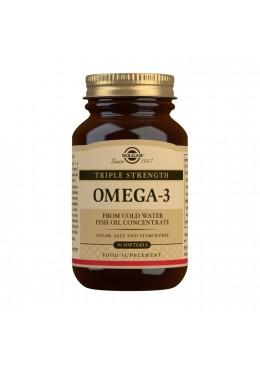 SOLGAR OMEGA 3 TRIPLE CONCENTRACION 50 CAPSULAS 091498 COMPLEMENTOS NUTRICIONALES