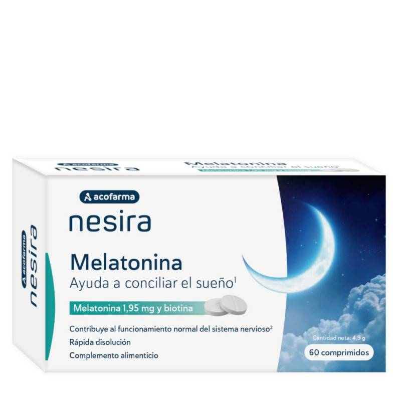 ACOFAR NESIRA MELATONINA 1.95 MG 60 COMPRIMIDOS 172104 Estrés- Insomnio