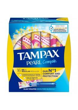 TAMPAX COMPAK PEARL TAMPON 100%ALGODON REGULAR 1 178804 Tampones y copas menstruales