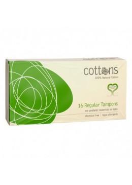 COTTONS TAMPON NATURAL REGULAR 16 UNIDADES 000954 Tampones y copas menstruales