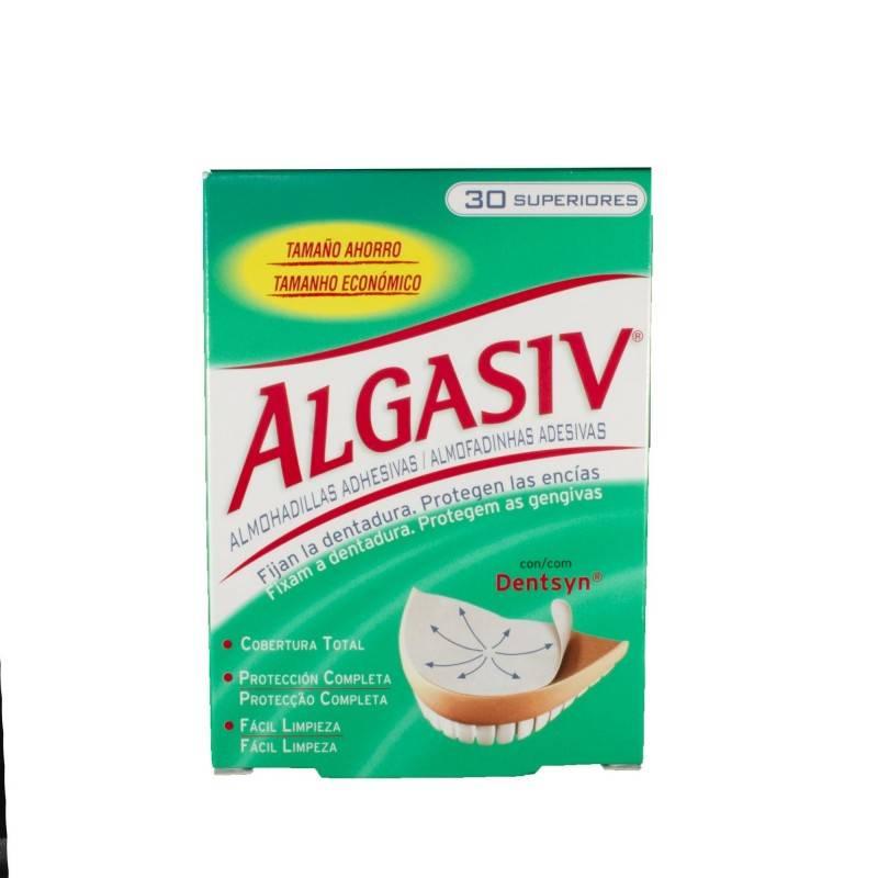 ALGASIV ALMOHADILLAS ADHESIVAS PROTESIS 30 U SUP 152834 Dentadura- Fijación- Limpieza