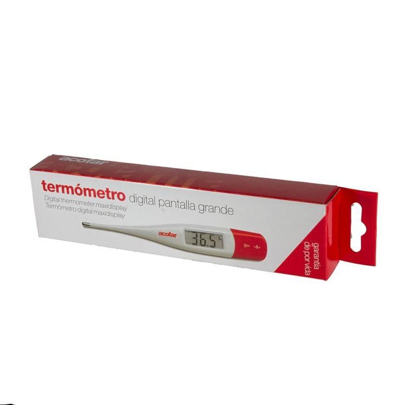 TERMOMETRO DIGITAL ACOFAR PANTALLA GRANDE 152283 Aparatos- Medición-Tiras