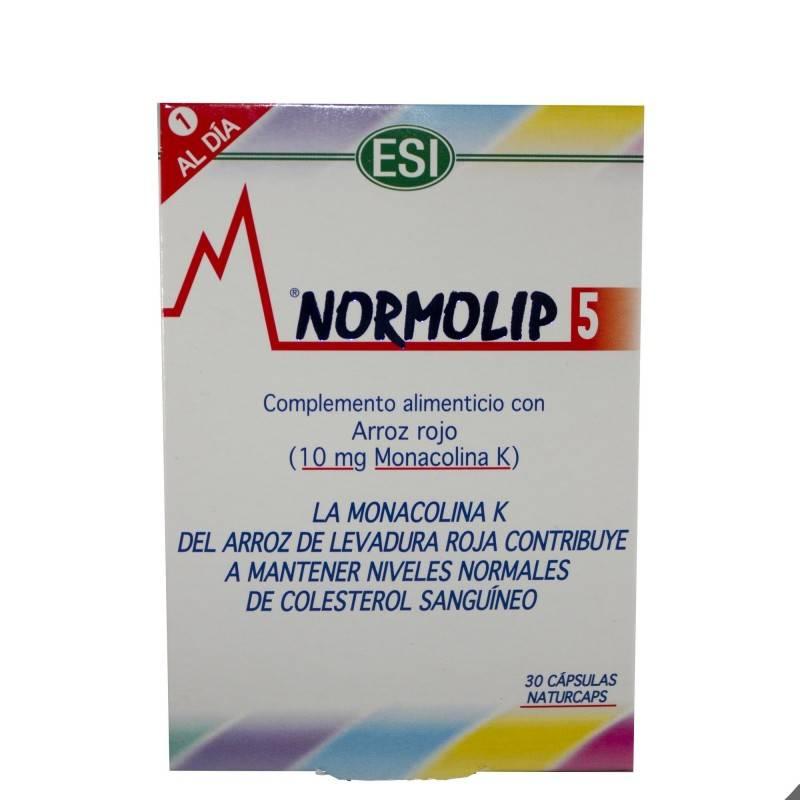 NORMOLIP 5 30 CAPSULAS 160949 Colesterol- Ácidos grasos