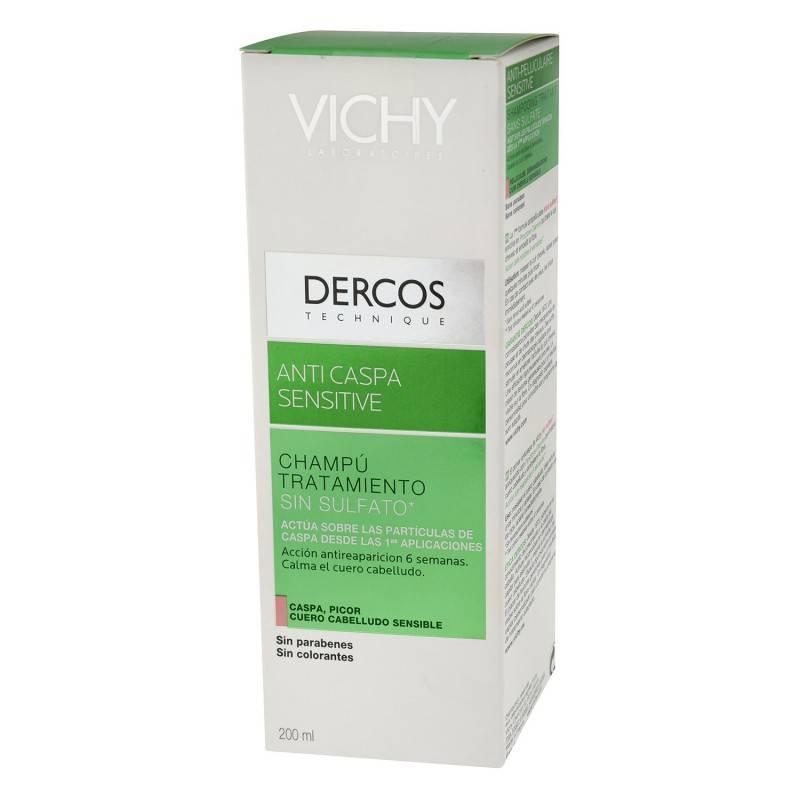 VICHY DERCOS CHAMPU ANTICASPA SENSIBLE 200 ML 161009 Caspa- Descamación