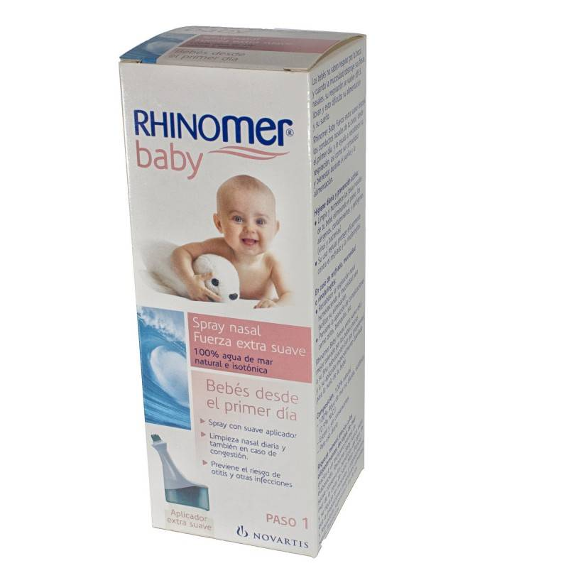 RHINOMER BABY LIMPIEZA NASAL F- EXTRA SUAVE 163081 Higiene auditiva y nasal
