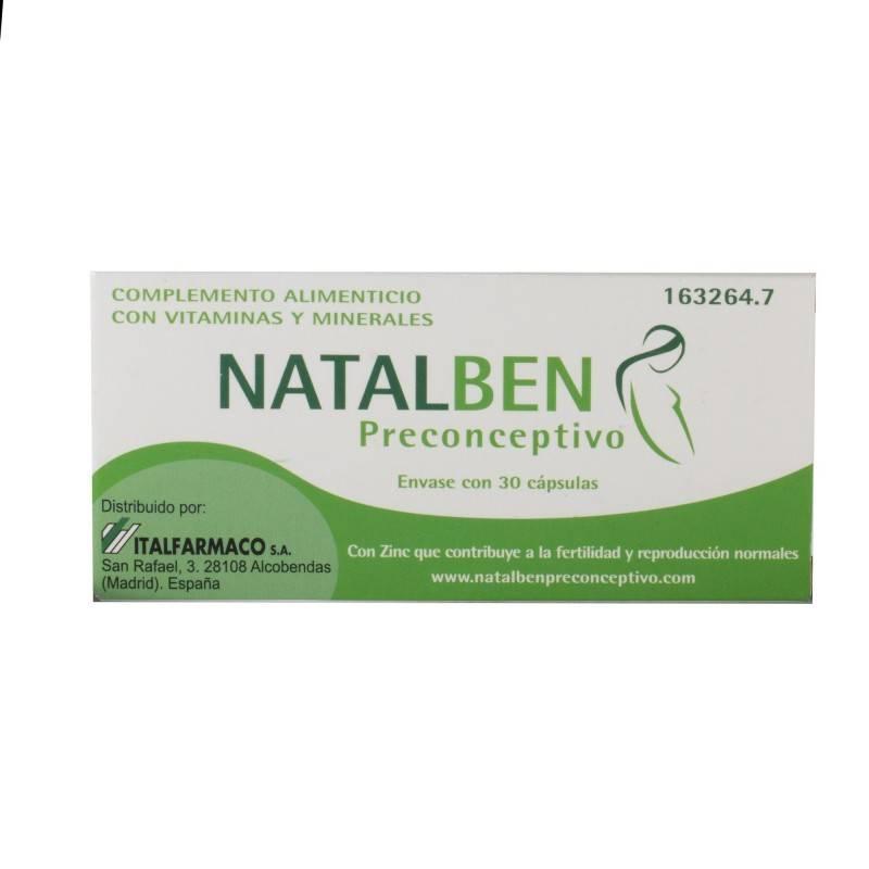 NATALBEN PRECONCEPTIVO 30 CAPS 163264 Embarazo- Fertilidad- Lactancia