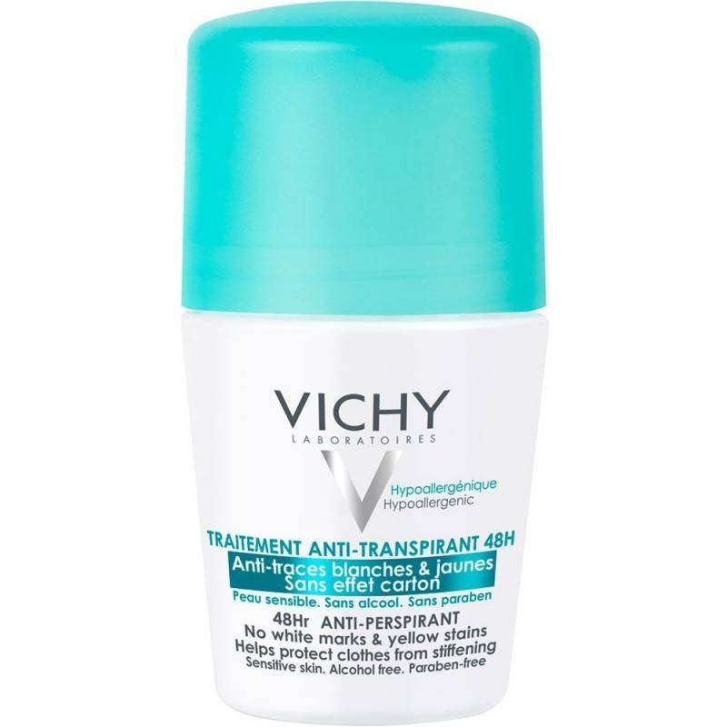 VICHY ANTITRASPIRANTE ROLL-ON ANTIMANCHAS 50 ML 165839 Desodorantes