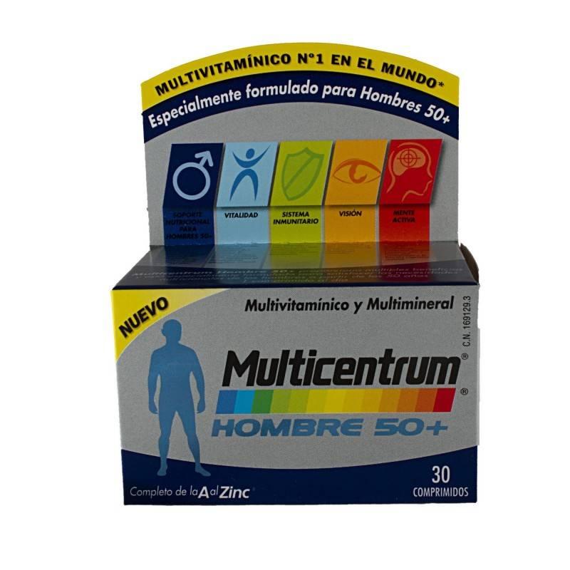 MULTICENTRUM HOMBRE 50+ 30 COMP 169129 Vitaminas - Minerales