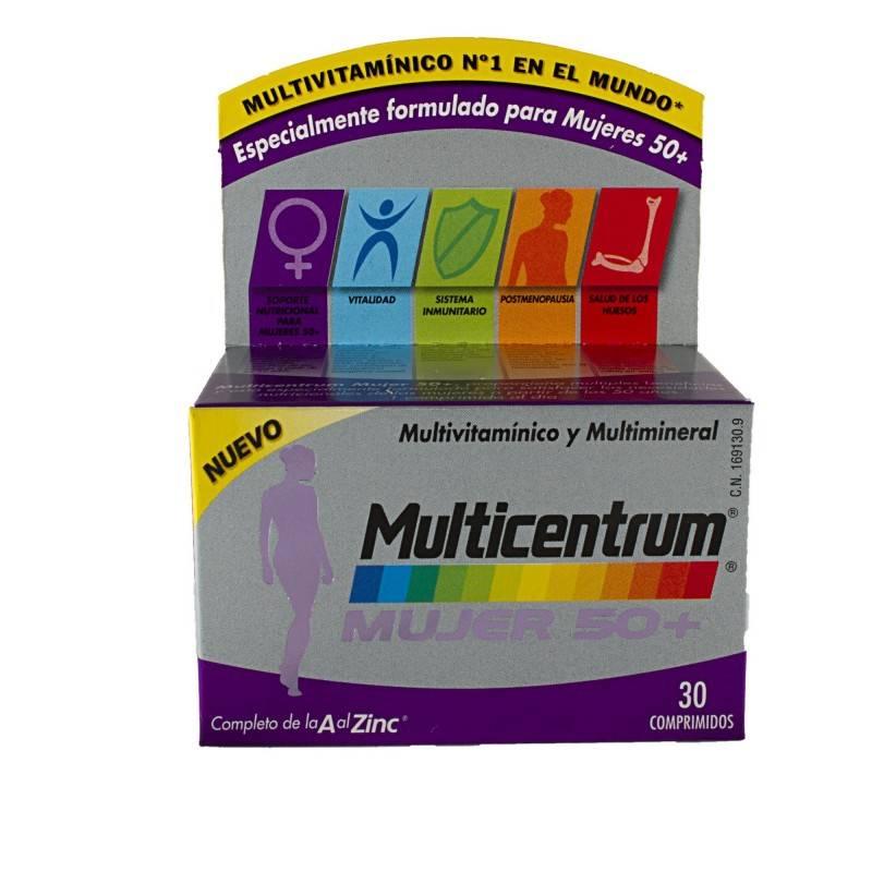 MULTICENTRUM MUJER 50+ 30 COMP 169130 Vitaminas - Minerales