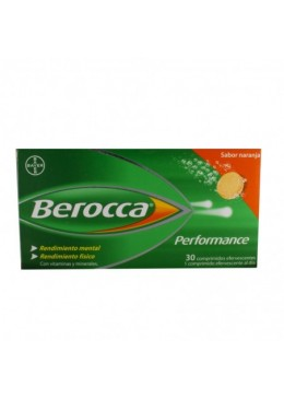 BEROCCA PERFORMANCE NARANJA 30 COMP EFERV 171683 Vitaminas - Minerales