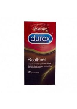 DUREX REAL FEEL PRESERVATIVO SIN LATEX 12 U 172897 Preservativos