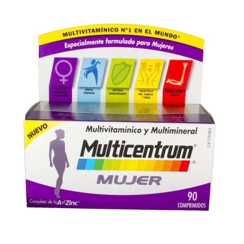 MULTICENTRUM MUJER 90 COMP 173190 Vitaminas - Minerales