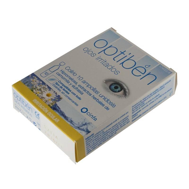 OPTIBEN OJOS IRRITADOS COLIRIO 10 MONODOSIS 174022 Hidratación e Higiene