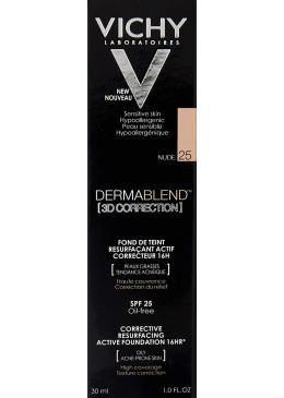VICHY DERMABLEND 3D SPF 15 OIL FREE TONO 25 176023 Maquillaje