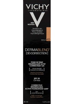 VICHY DERMABLEND 3D CORRECTION 45 GOLD 176026 Maquillaje