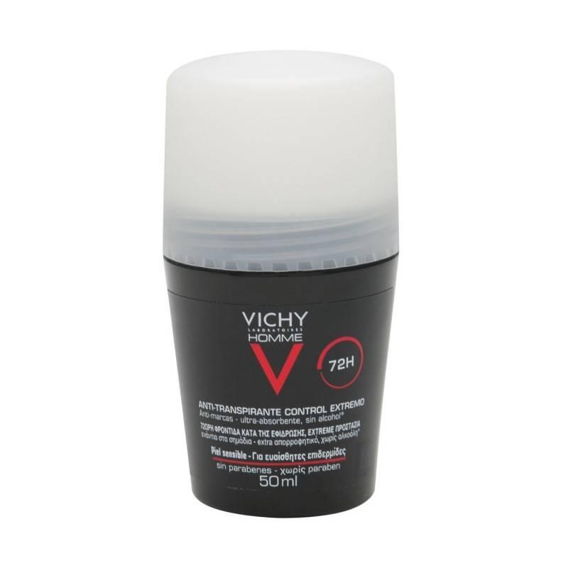 VICHY HOMME DESODORANTE ANTITRANSPARENTE 72H 257659 Desodorantes