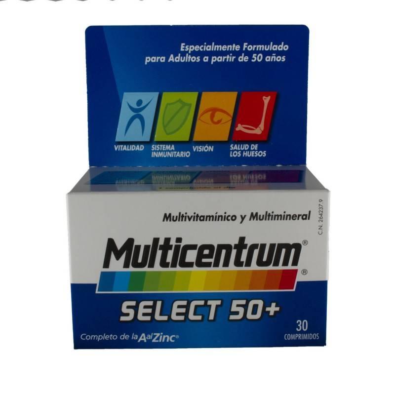 MULTICENTRUM SELECT 50+ 30 COMP. 264237 Vitaminas - Minerales