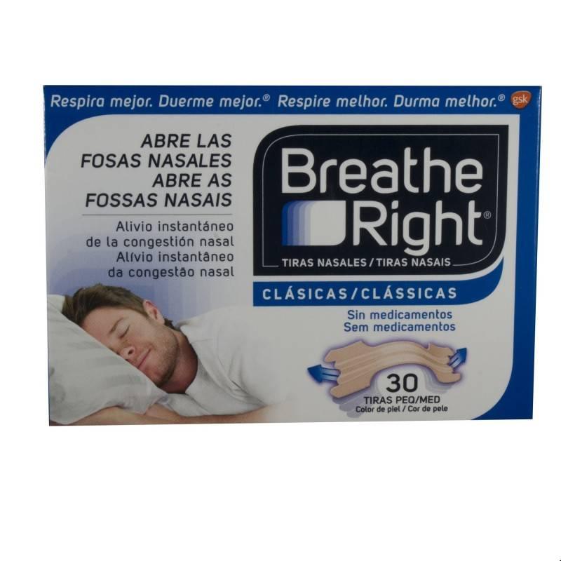 RHINOMER (BREATHE RIGHT) TIRAS NASALES PEQ 30 U 269845 Efectos-Material